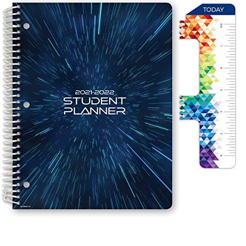 Dated Middle School or High School Student Planner for Academic Year 2021-2022 (Block Style - 8.5