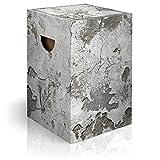 murando Papphocker Motiv Beton 45x30x30 cm faltbar Papier Hocker ergonomischer Karton Photohocker Falthocker f-C-0286-ap-a