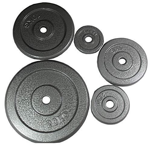 Lisaro Gjutjärnsskiva 1,25–20 kg, 30/31 mm hål, bodybuilding hantelskiva/viktskiva. (1,25 kg) per par