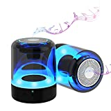 Portable Bluetooth Speaker,2 Pack Mini Desktop Speaker with True Wireless Stereo Speakers,800×2mAh Long Standby time,Aux in,LED Light Show,Magnetic Materials,Home Mini Small Pocket Size