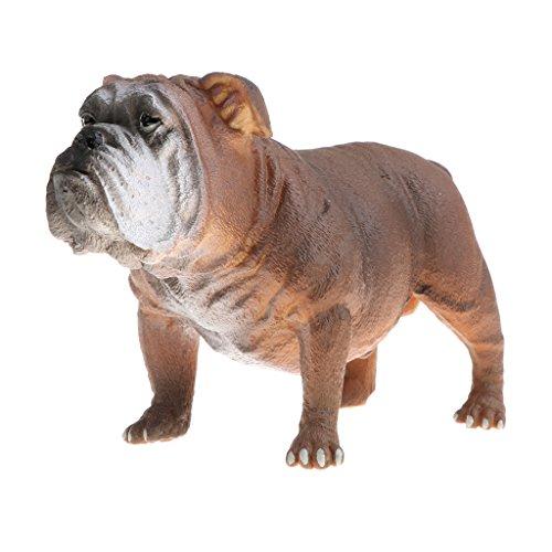 MagiDeal Juguete Realista Figura de Animales Salvajes de Imitación Plástico Modelo de Caballo/Bulldog/Avestrez/Cocodrillo - Bulldog a