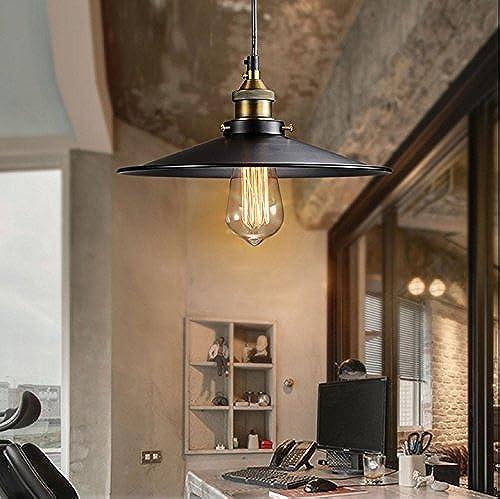 BENJUNNoir parapluie lustre moderne minimaliste restaurant salon étude balcon noir personnalité créative bar américain lampe