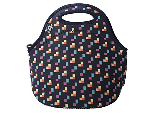 BUILT 5180867 Gourmet Getaway Soft Neoprene Lunch Tote Bag - Lightweight, Insulated and Reusable, Pixel Confetti