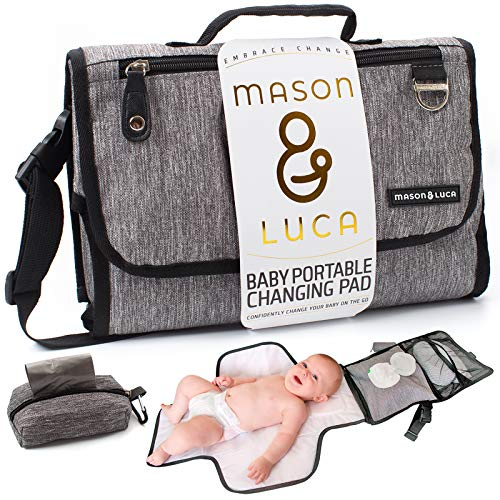 Mason & Luca | Portable Changing Pad for Baby Changing Station | Easy Diaper Changing for Travel | Perfect for Baby Shower