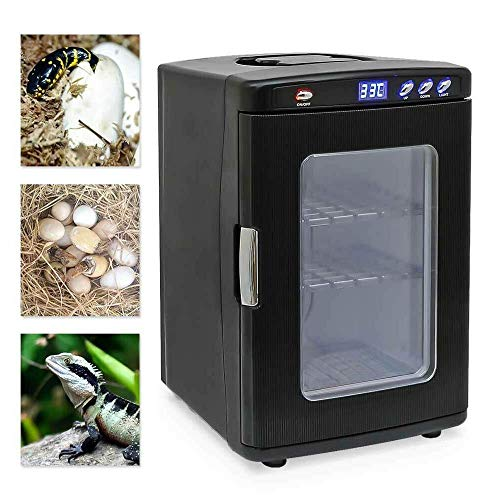 ETE ETMATE Reptile Egg Incubator, 25L Intelligent Automatic Incubator, Incubator Cabinet Chicken Bird Turtle Snake Hatching Turner for Keeping Breeding Eggs Reptile Egg Keeping with Temp Adjustment