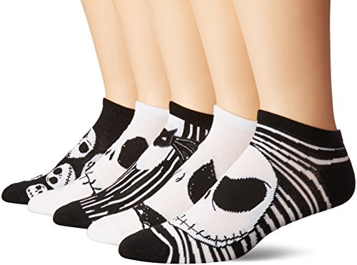 Disney mens Nightmare Before Christmas 5 Pack No Show Casual Sock, Assorted Neutral, 10 13 US