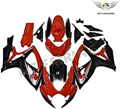 NT FAIRING Red Black Injection Mold Fairing kits Fit for Suzuki 2006 2007 GSXR 600 750 K6 GSX-R600 Aftermarket Painted ABS Plastic Motorcycle Bodywork