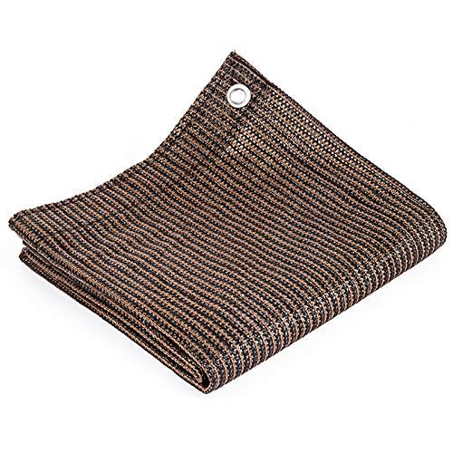 Malla de la cubierta de la pantalla de privacidad del balcón,Protección UV Pantalla de cerca resistente a la intemperie,Panel de cerca de jardín de tela de HDPE resistente (78.7'x118.1' / 2x3m,Brown)