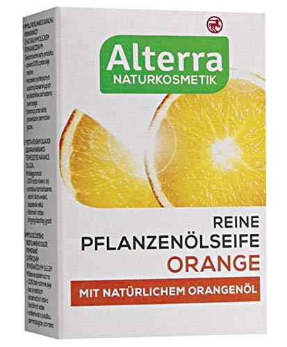 Reine Pflanzenölseife Orange, mit natürlichem Orangenöl, Naturkosmetik, vegan, 2er Pack (2 x 100g)