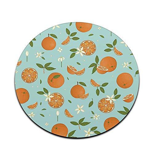 Orangen Mauspad Niedlich Blau Lustig Sommer Mousepad Damen Schreibtischzubehör Bürobedarf Geschenk für Mitarbeiter Boss Mandarinen A823-one_Color-