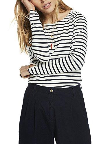Scotch & Soda Maison Damen Basic fit Breton Stripe L/S Tee T-Shirt, Mehrfarbig (Combo C 19), Medium