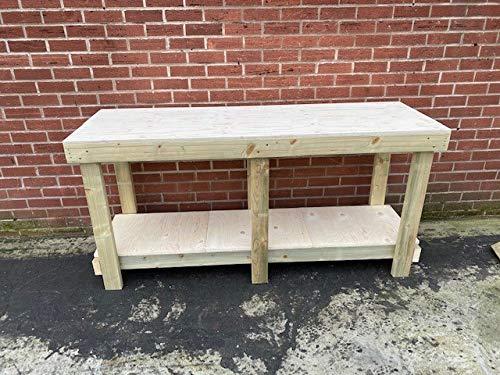 MC Timber Products - Banco de trabajo pesado de 18 mm de largo, resistente al agua y tratado a presión. Mesa perfecta para macetas