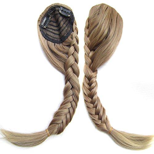 Extensión del cabello Extensión oblicua del pelo de la peluca del hueso de pescados de Fashian y peluca de la armadura multicolor Pelucas de pelo humano (Color : Light brown)