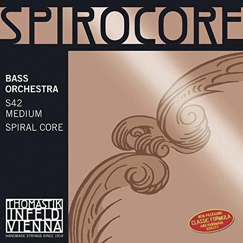 Thomastik Einzelsaite für Kontrabass 3/4 Spirocore - H/B-Saite (low) Spiralkern, Chrom umsponnen, Orchesterstimmung, mittel
