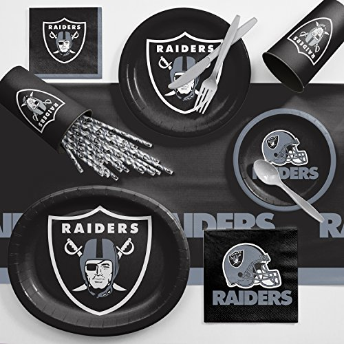 For Sale! Creative Converting Las Vegas Raiders Ultimate Fan Party Supplies Kit, Serves 8