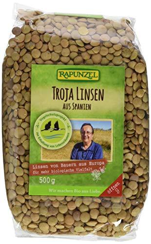 Rapunzel Troja Linsen (grün bis braun), 2er Pack (2 x 500 g) - Bio