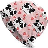 Gorro de hip-hop para mujer y hombre, elástico, diseño de oso panda con forma de corazón