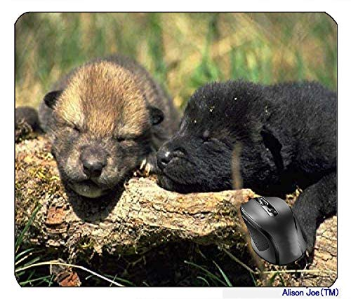 Timber Wolf Pups Mousepad Gaming Mouse Pad