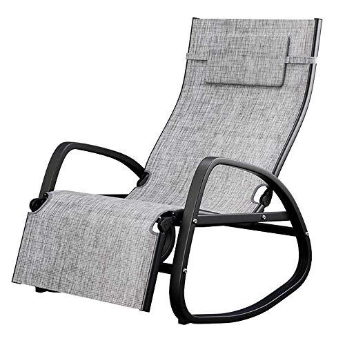 ZZX Liegestuhl klappbar Gartenliegen Relaxliege verstellbare Außenterrasse Schwerelosigkeit Stuhl Orbit Schaukelliegestuhl Kissen mit, Kapazität 400 lbs