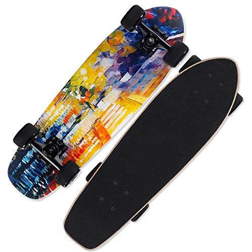 Skate-Brett for Anfänger, 8 Schicht Maple Kick-Trick Skateboard, High-Density-Diamant wasserdichte Sand, einzigartiges Aussehen, Geburtstags-Geschenk for Kinder, Jungen, Mädchen 5 bis Jahre alt, Skate