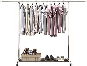 MU Metalowy wieszak na ubrania prosty stojak na buty nowoczesny regulowany wieszak podłogowy wytrzymały wieszak na ubrania...