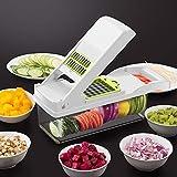 Cortador de verduras 7 en 1, manual ajustable, multifunción, cortador de verduras para cocina, manos libres, apto para...