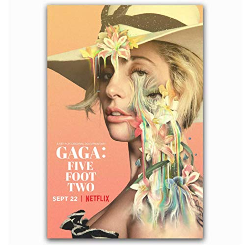Swarouskll Lady Gaga Five Foot Two 2017 Netflix Documenta Poster and Prints Canvas Painting Wall Art for Home Decorations Gift -50x70cm No Frame