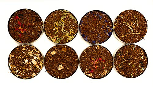 Rooibos Tea Discovery Packs - A Selection of Eight 20g Packs of Delicious Flavours - Provence, Mango, Earl Grey, Lemon, Lemongrass, Berry, Cherry Rose, Chocolate