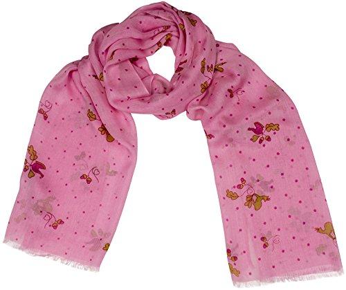 Shirin Sehan Trachtenschal Amalia Pink von GOLDGEWEIH Cashmere Modal 50x180 cm Schal unisex Tracht Gams Auerhahn Dirndl