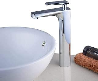 acabado en n/íquel cepillado Grifo de lavabo con tres agujeros y doble asa con desag/üe desplegable Beelee BL3030N color negro
