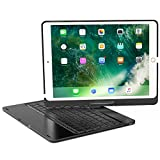 XFUNY iPad Pro 9.7 Keyboard Case Wireless Bluetooth Keyboard Full Protective Case with 360 ° Rotating and Seven-Color Backlight Slim Keyboard for iPad Pro 9.7 (Black)