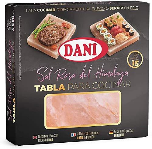 Dani - Plancha / Tabla de Sal rosa del Himalaya para cocinar, 1 x 3.500gr