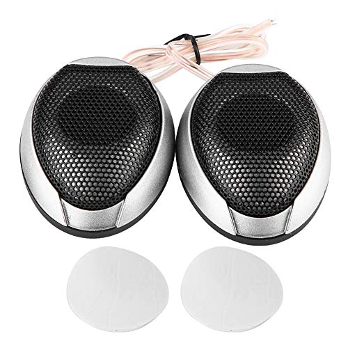 Gorgeri 1000W Mini Auto Speaker Audio, Ronde Stickable luidspreker Automobile Speaker met Lijm Auto Hifi Speakers default ZILVER