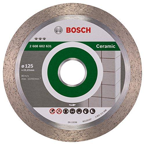 Bosch Professional Diamanttrennscheibe Best für Ceramic, 125 x 22,23 x 1,8 x 10 mm, 2608602631