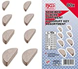 BGS 8117 | Surtido de chavetas tipo Woodruff | 80 piezas
