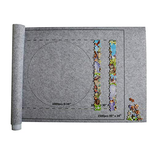 Tapete de armazenamento para quebra-cabeças, quebra-cabeças, tapete de feltro salva-vidros para crianças