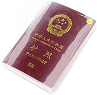 13.5x19cm PVC Transparent Dull Polish Passport Cover Clear Card ID Cover Case Travelling Passport Bags