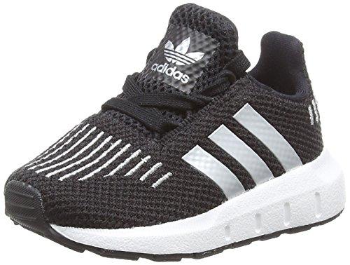 Adidas Swift Run I, Zapatillas de Deporte Unisex niño, Negro (Negbas/Plamet/Ftwbla 000),...