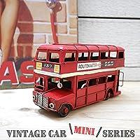 インテリア&ガーデニング雑貨 ブリキ ヴィンテージminiカー ロンドンバス レッド