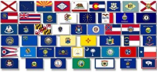 small state flag stickers
