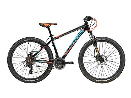 Cicli Adriatica Mountain Bike RCK 27,5' Telaio in Alluminio, Forcella Ammortizzata e Cambio 21V (Nero-Blu-Rosso, Telaio 43 cm)
