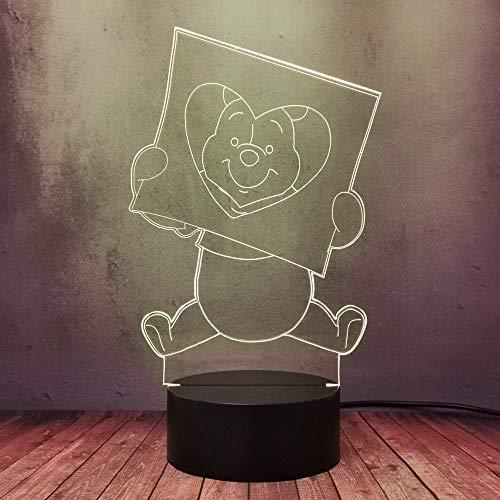 Kreative süße Winnie Bär Edward Pooh Schöne Cartoon Figur Aktion 16 Farben ändern Smart LED Nachtlicht Jungen Mädchen Schlafzimmer Nachttisch Schlaftisch Lampe Dekor Kind Weihnachtsgeschenke