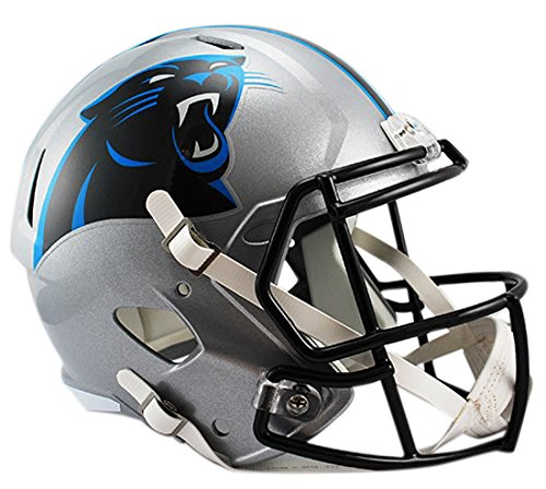 Riddell NFL Carolina Panthers Full Size Speed Replica Football Helmet