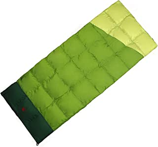 Outdoor Camping Lovers Down Sleeping Bag Envelope Type Winter And Autumn Duck Down Nylon Degrees Arabyat (Color : 1)