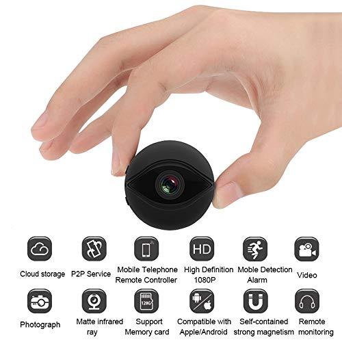 Mini cámara de Ojo de pez Oculta WiFi inalámbrico con Tarjeta de Memoria 128G,1080P HD Cámaras de Seguridad domésticas para Interiores pequeñas espías para Office Car Sport Nanny CAM