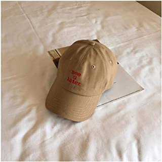 Hats Hat Female Summer Wild Cap Student Black Baseball Cap Fashion (Color : Beige, Size : F)