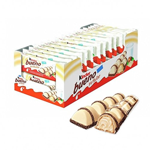 Kinder Bueno WHITE Chocolate Bars, Pack OF 30 - Sold by CANDYWORLD.USA