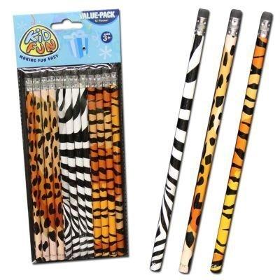 Animal Print Pencils - (2-Pack of 12)
