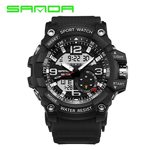 Nowakk Sanda 759 Luxusmarke Digital LED Uhr Military Shock Multifunktions Armbanduhr 30 mt Wasserdichte Leuchtende Analoge Sportuhr