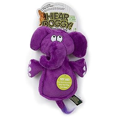 Hear Doggy Flatties with Chew Guard Technology Dog Toy, Elephant